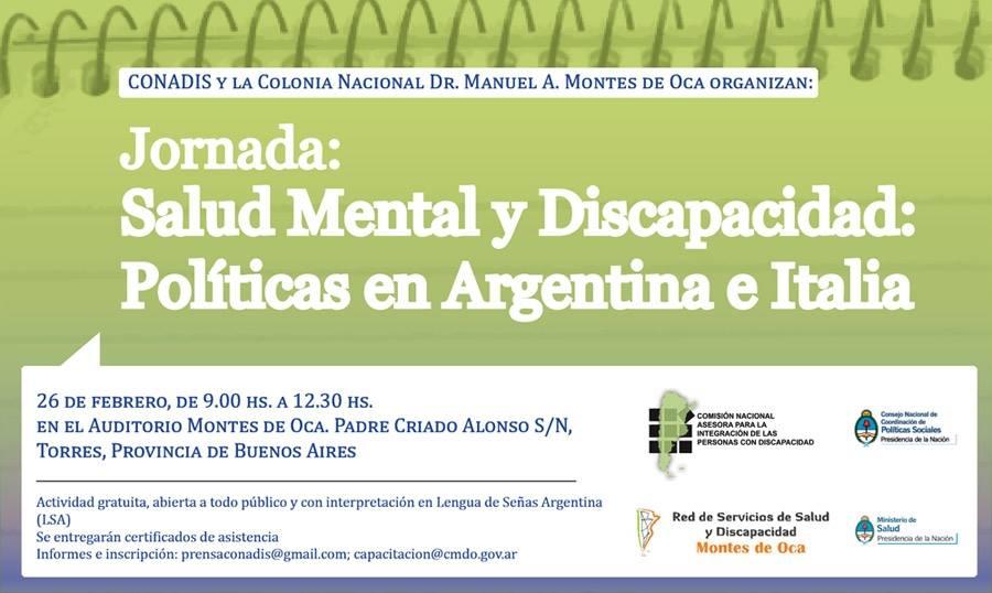 """Conadis y el Ministerio de Salud de la Nación organizan jornada de """"Salud Mental y Discapacidad: Políticas en Argentina e Italia"""""""
