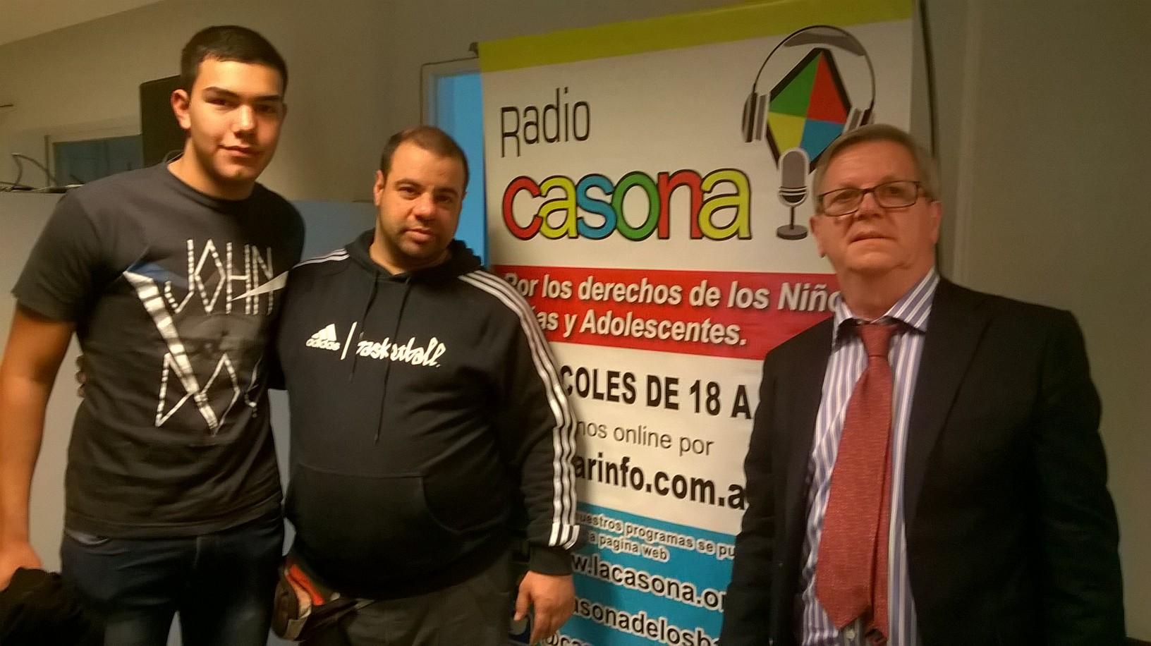 cente García Holgado, Emiliano Mendoza y Leo Petris