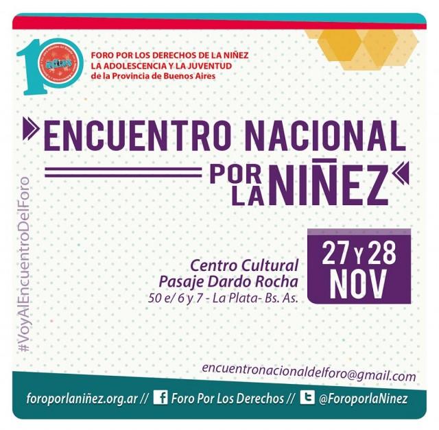 En noviembre se realizará un Encuentro Nacional por la Niñez en la Provincia de Buenos Aires